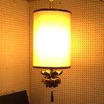 Image of Feldman Brass Lotus Flower Hanging Drum Lamp