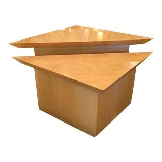 Custom Designed Triangle Tables - Pair