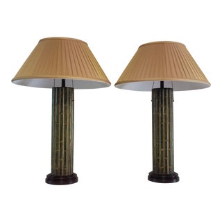 Faux Bamboo Bradburn Gallery Table Lamps - A Pair