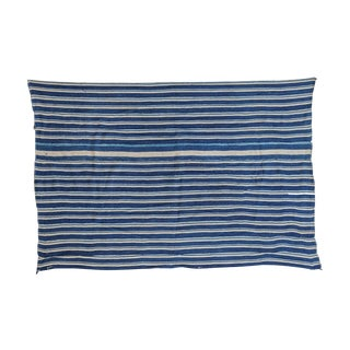 "Indigo Blue Striped Throw - 3'2"" X 4'8"""