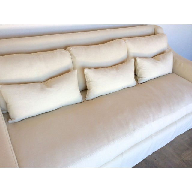 Sloped Arm Hemp Slipcover Sofa Chairish