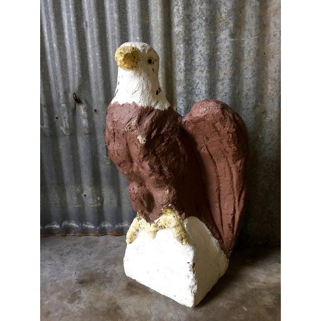 Vintage Concrete Eagle Statue - Image 3 of 8