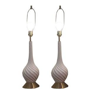 Quartite Creative Mid-Century Spiral Lamps - Pair