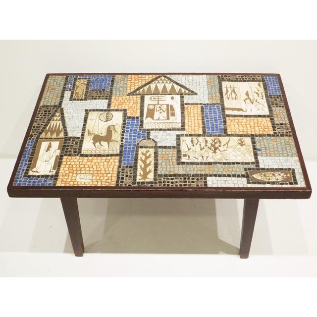 David Holleman Ceramic Mosaic Table - Image 4 of 10