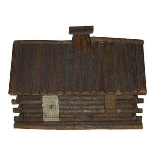 Vintage Wooded Log Cabin Display Piece Hand-Made Circa 1930
