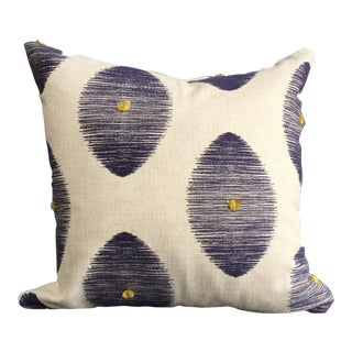 Linen & Indigo Pillow with African Mudcloth Pillow