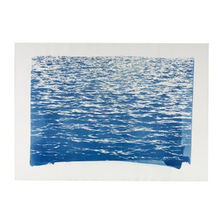 """Blue Sea Waves"" Cyanotype Print"