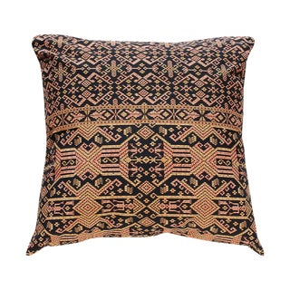 New Black Tribal Patterned Pillow From Borneo