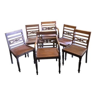 Thai Teak Dining Chairs - Set of 6