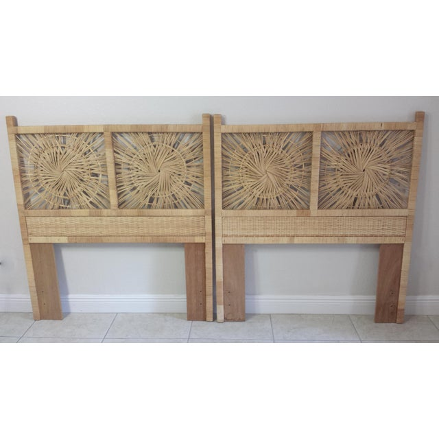 Woven Rattan Twin Headboards - A Pair - Image 2 of 9