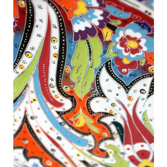 Multicolor Hand Made Turkish Plate - Image 5 of 7