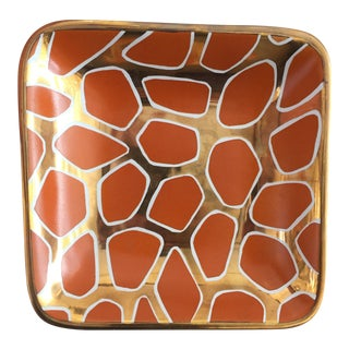 Orange & Gold Square Tray