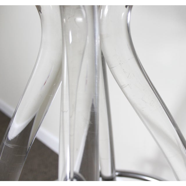 Lucite & Wood Bar Stool - Image 8 of 9