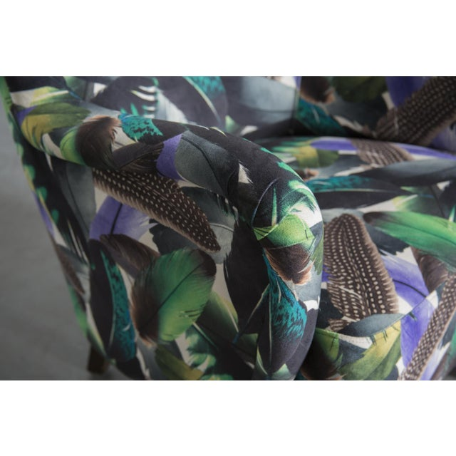 Theo Ruth Armchair Feather Upholstery - Image 8 of 10