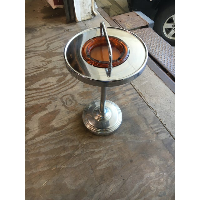 Machine Age Industrial Chrome Smoking Stand - Image 2 of 10