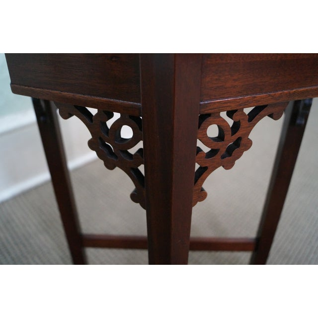 Madison Square Mahogany Chippendale Tables - Pair - Image 10 of 10