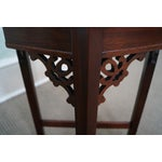 Image of Madison Square Mahogany Chippendale Tables - Pair