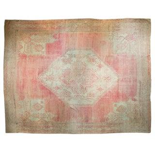 "Vintage Oushak Carpet - 14' X 16'8"""