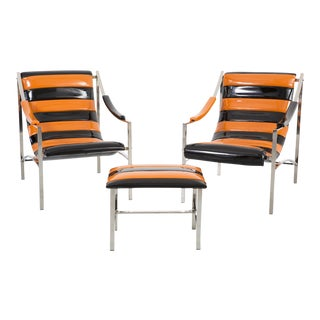 Otto Gerdau Chairs & Ottoman - Set of 3