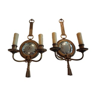 French Louis XVI Style Bronze Sconces - A Pair