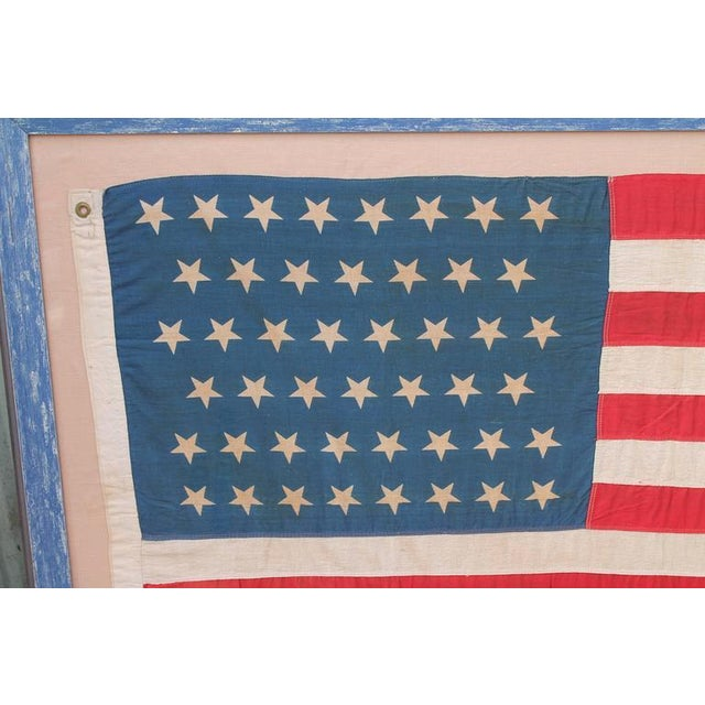 Image of Monumental 46 Star Framed American Flag from 1909
