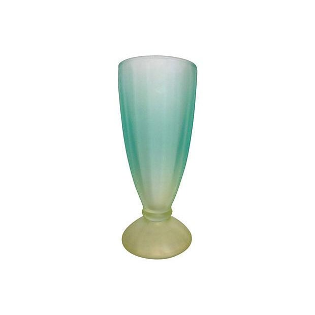 1950s Aqua & Green Sundae Glasses - Set of 5 - Image 3 of 4