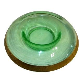 Vintage Green Depression Glass Bowl