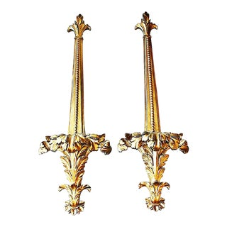 Gilt Wall Decorative Mounts - A Pair