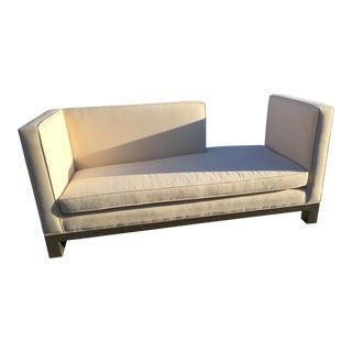 Mid-Century White Sofa