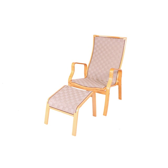 Bruno Mathsson Chair and Ottoman - Image 1 of 3