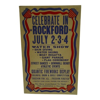 Vintage July 4th Independence Day Poster