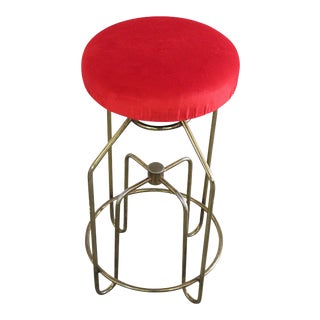 Art Deco Brass Stool