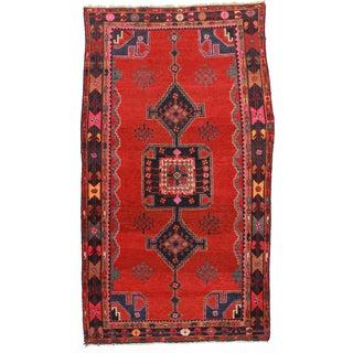 RugsinDallas Hand Knotted Wool Persian Hamedan Rug - 4′10″ × 8′6″