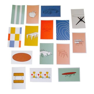 Mid-Century Modern Chair Postcards & Other Iconic Products - Set of 15