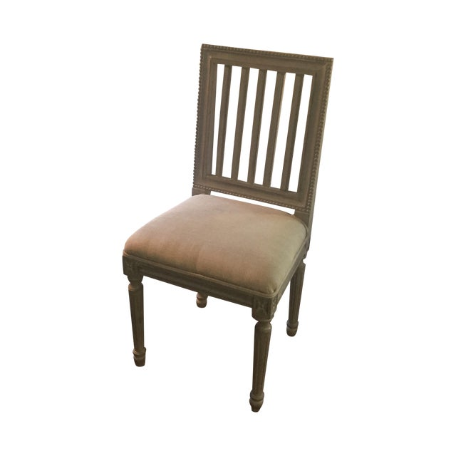 Shabby Chic Gray Wood Dining Chairs - Set of 4 - Image 1 of 6