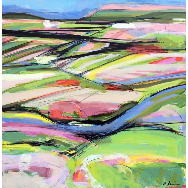 Onion Road III - Spring Acrylic Painting - Image 1 of 5