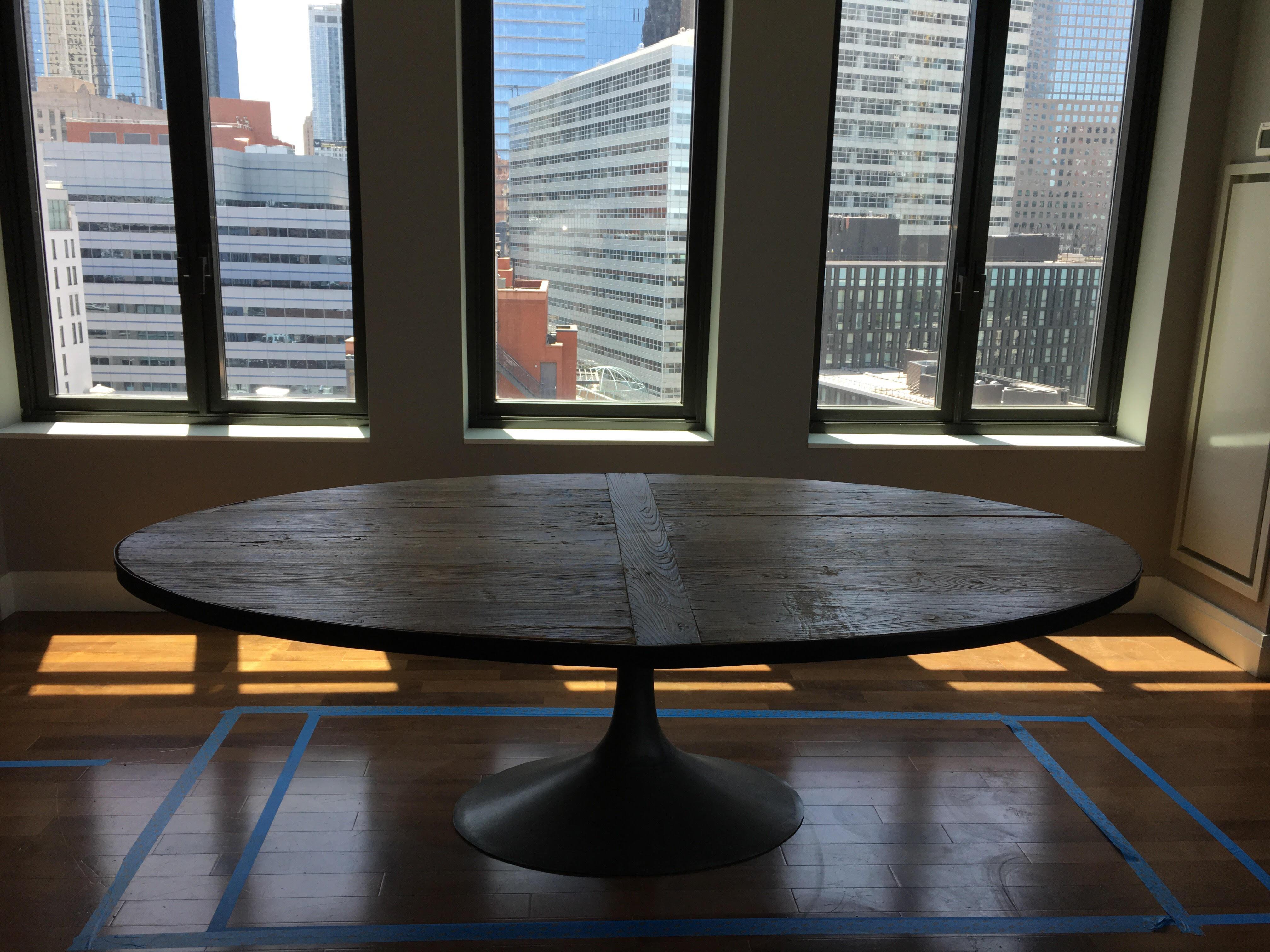 image of restoration hardware aero reclaimed wood dining table
