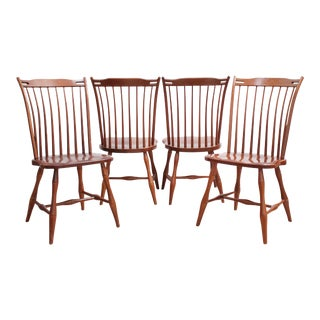 Tom Seely Windsor Dining Chairs - Set of 4