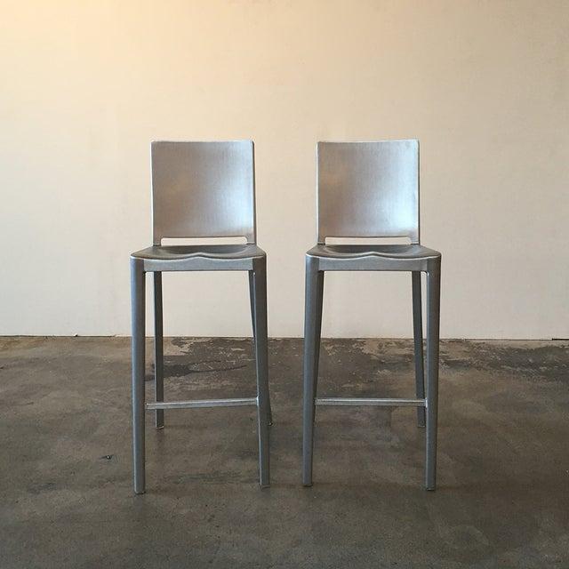 Image of Philippe Starck Emeco Hudson Bar Stools - A Pair