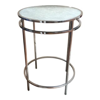 Shagreen and Nickel Occasional Table