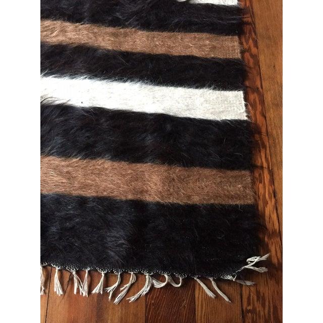 Vintage Striped Fur Rug Or Throw