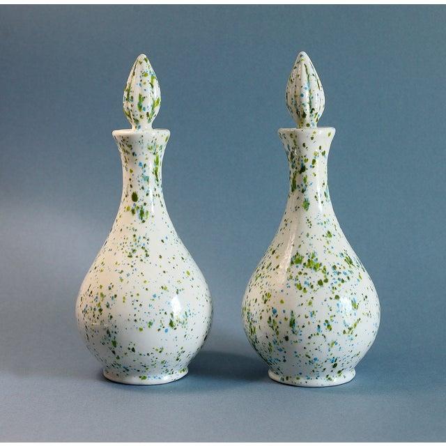 Speckled Ceramic Vases - A Pair - Image 2 of 5