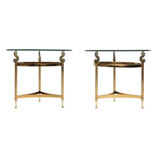 DIA Brass & Glass Side Tables - A Pair