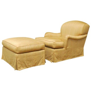 Rose Tarlow Lambertus Lounge Chair and Ottoman