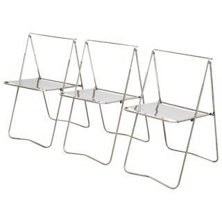 Set of Three Folding Chairs by Rafael Carreras Puigdengolas, circa 1960