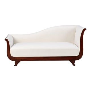Empire Style Sofa with Mahogany Base