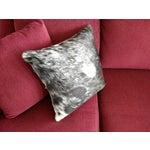 Image of Gambrell Renard Cowhide Pillow Black & White