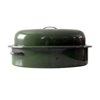 Vintage Enamelware Roasting Pan