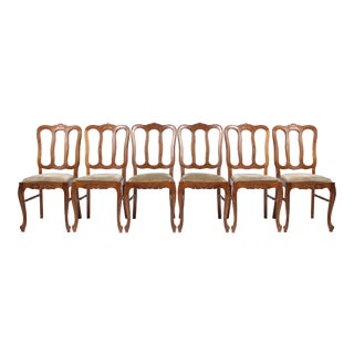 1950s Vintage Louis XV-Style Dining Chairs - Set of 6