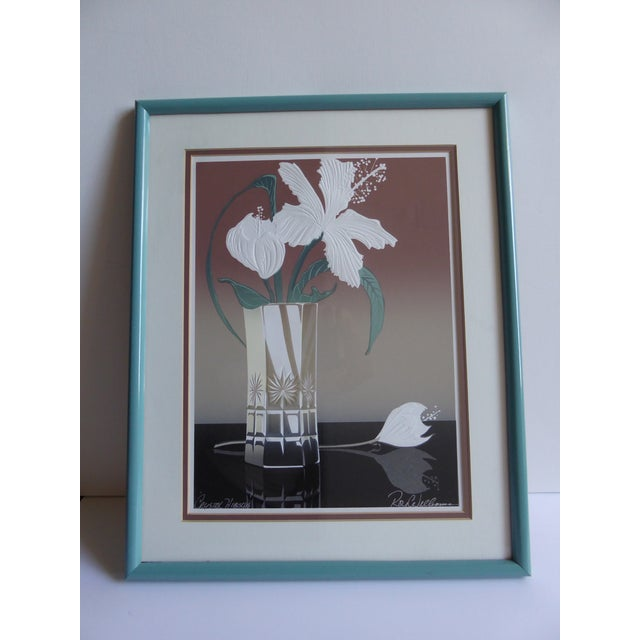 Roy Williams Crystal Hibiscus Embossed Serigraph - Image 2 of 6